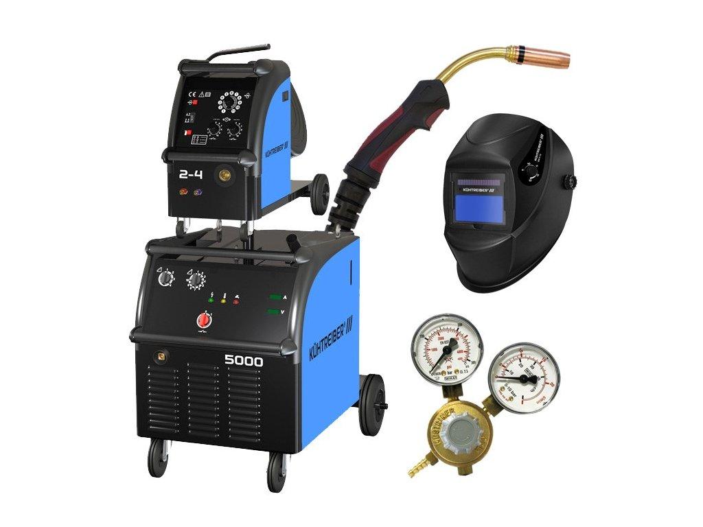 KIT 5000 WS 4-kladka + hořák 4m + ventil + samozatmívací kukla
