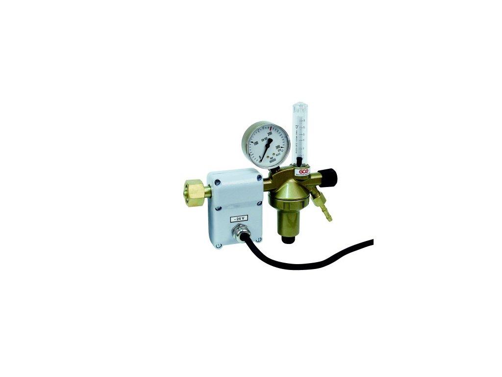 Redukční ventil CO2 DIN + FLOW N1 s průtokoměrem a ohřevem 42V