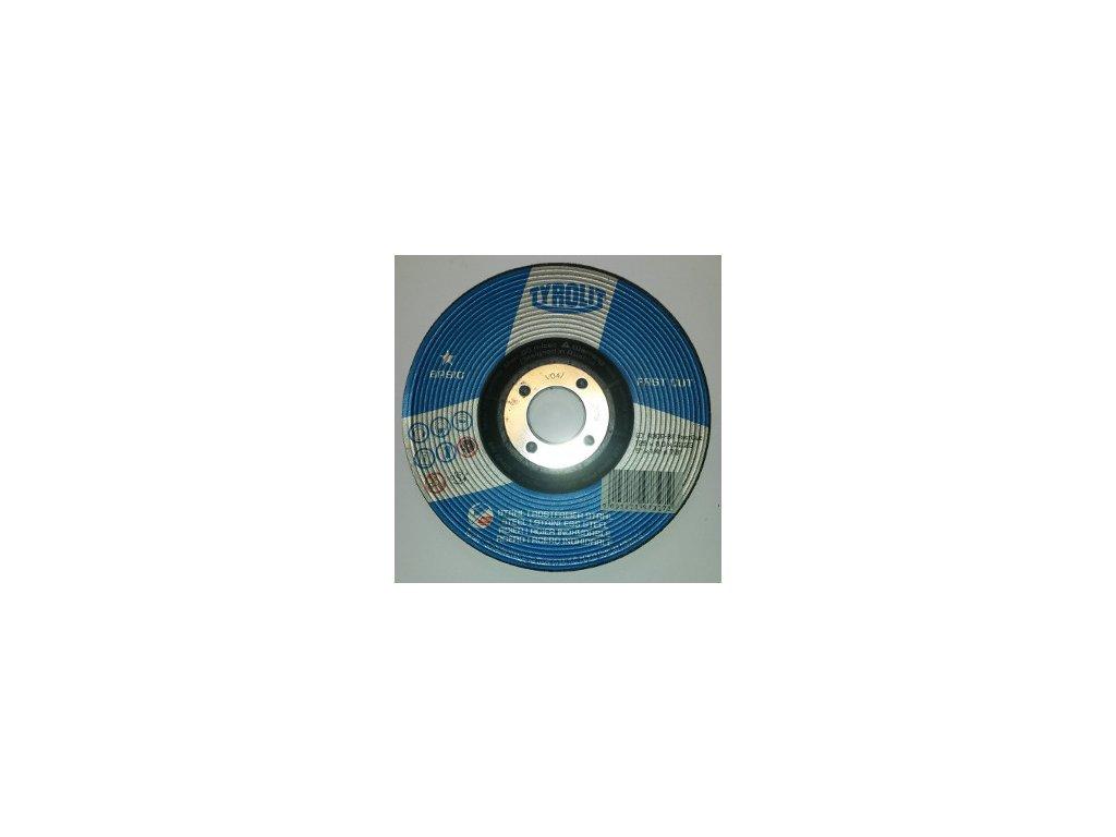 kotouč brusný 125x6x22,23 Basic FASTCUT STEEL INOX 297327 TYROLIT
