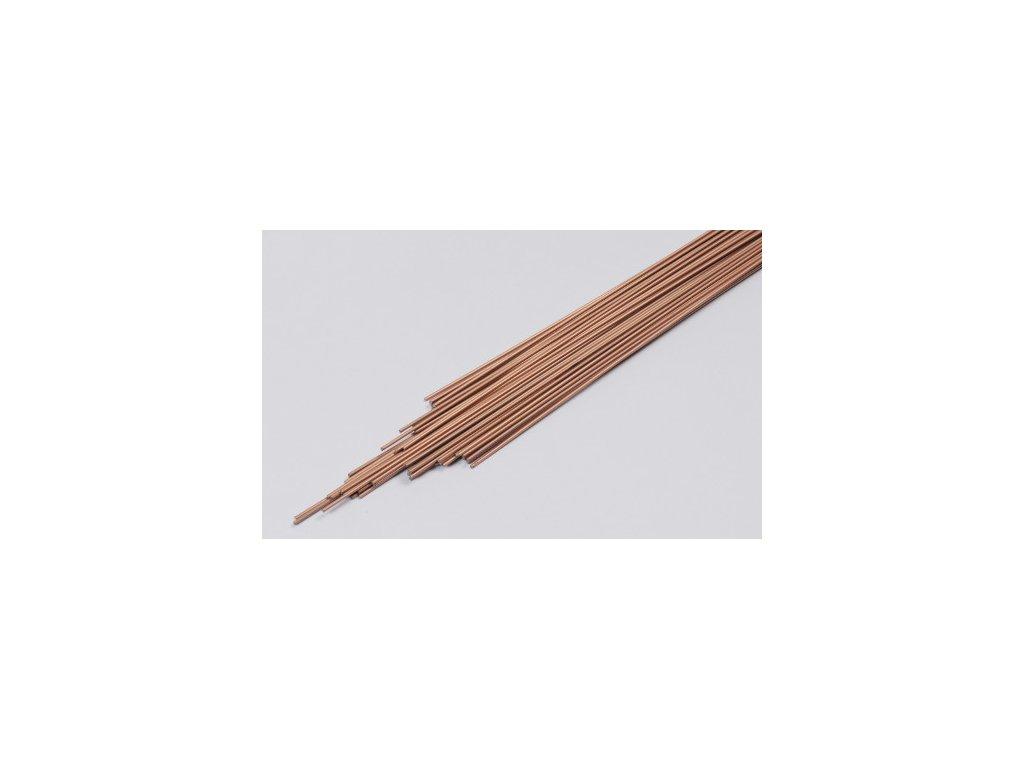 Drát G 104 pr. 2.5 mm. délka 1000 mm.