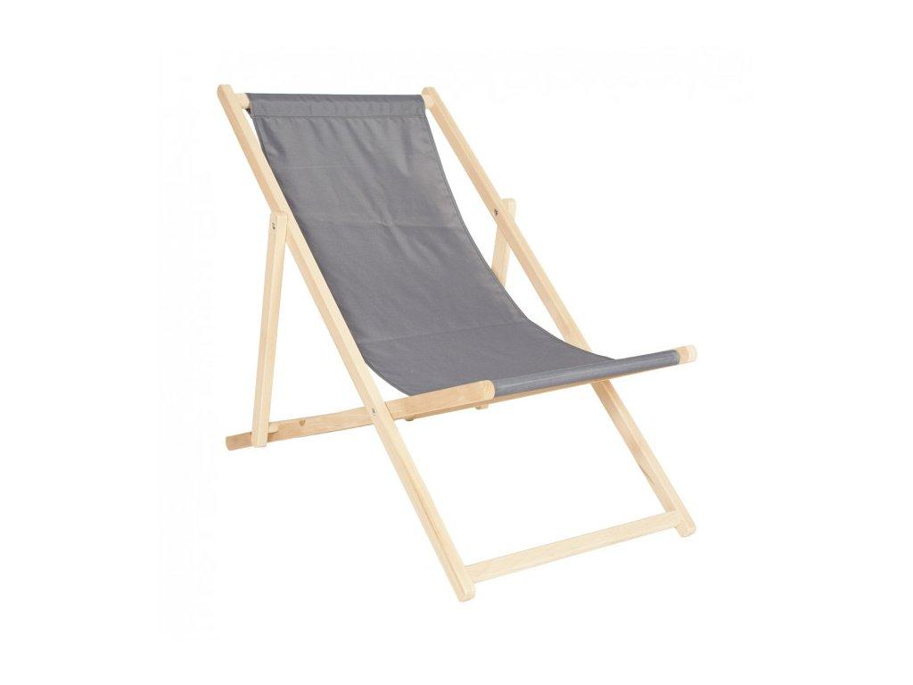 dřevěná skládací židle bílá