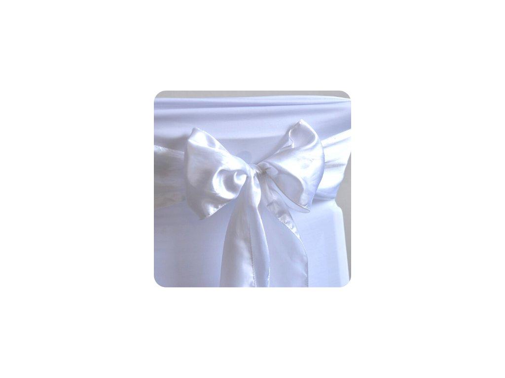 Saténová mašle - bílá  (cena při znehodnocení: 90 Kč/ks)