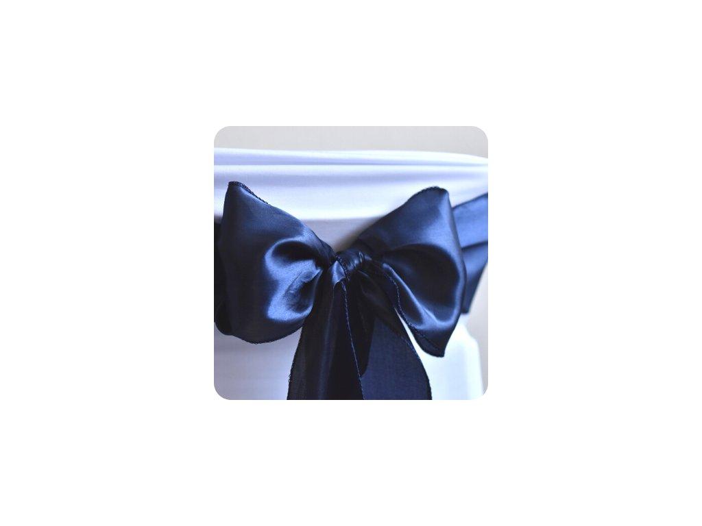 Saténová mašle - námořnická modrá