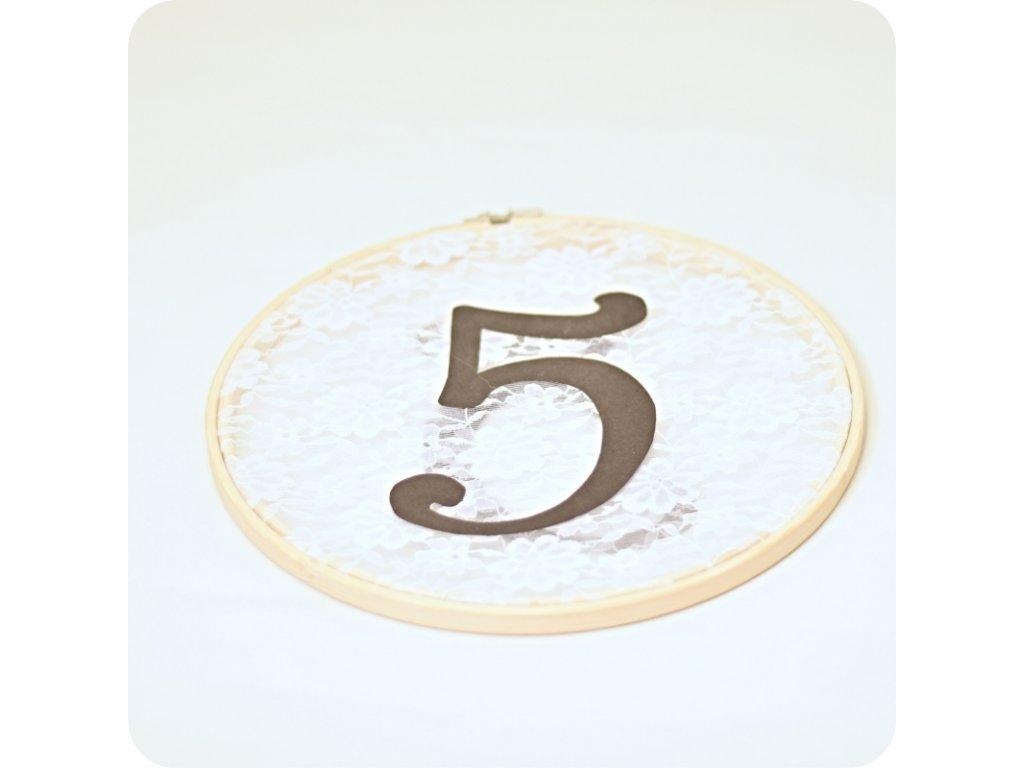 Číslo stolu - kruh  (cena při znehodnocení: 70 Kč/ks)