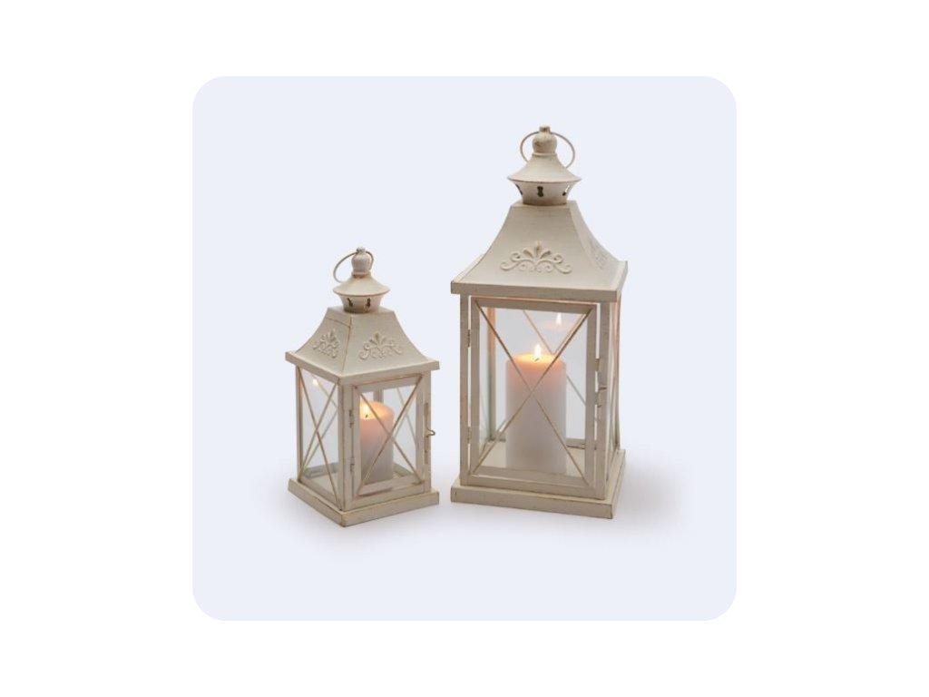 lucerna bílá dekorační