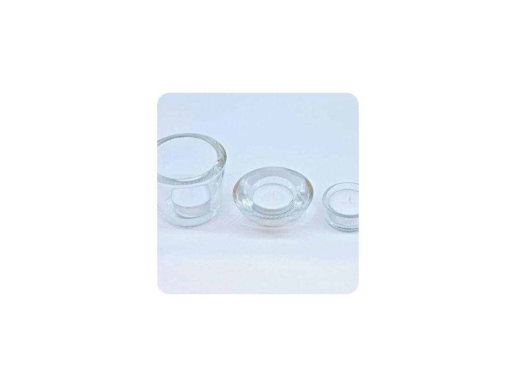 Svícny na čajovou svíčku  (cena při znehodnocení: 20 Kč/ks)