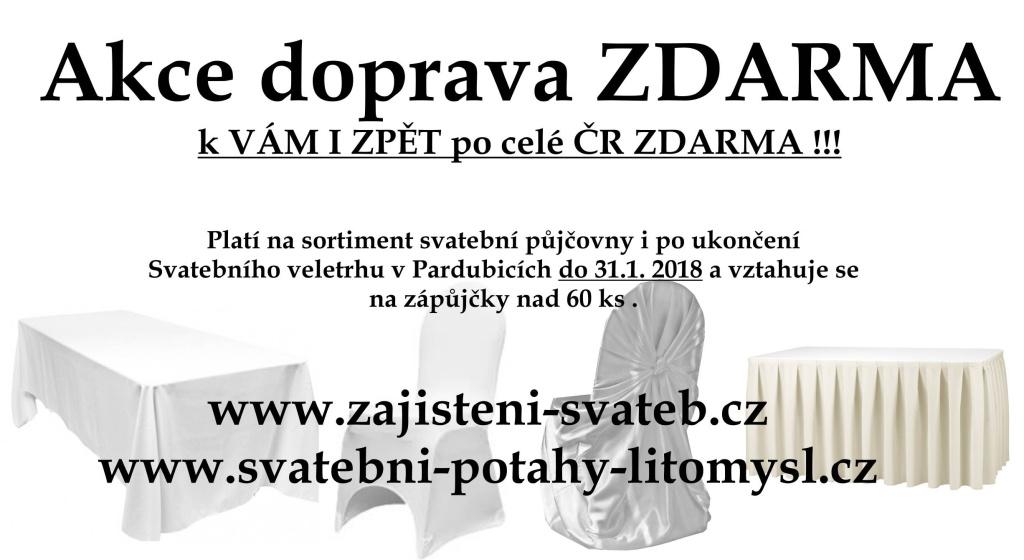 Akce Doprava po celé ČR ZDARMA