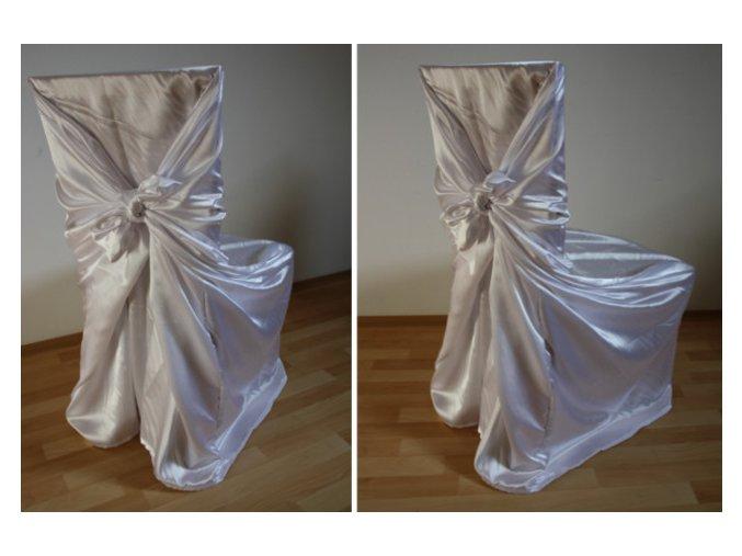 Svatební potahy na židle, svatební potah na židli, zapůjčení potahu