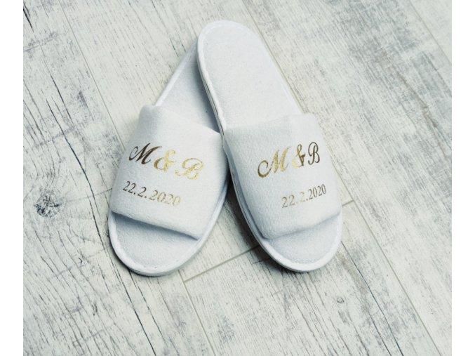 Pantofle s textem na přání