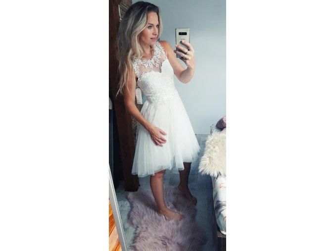 Popůlnoční šaty bílé Matmazel