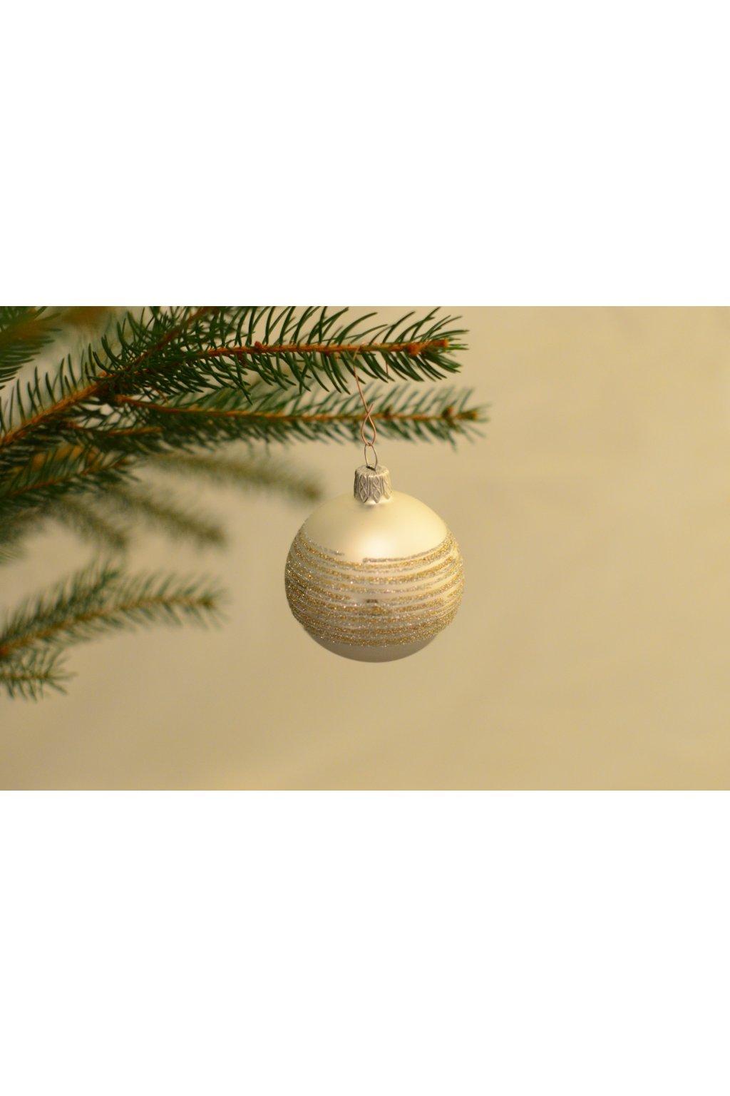 Vánoční koule dekorovaná 6cm