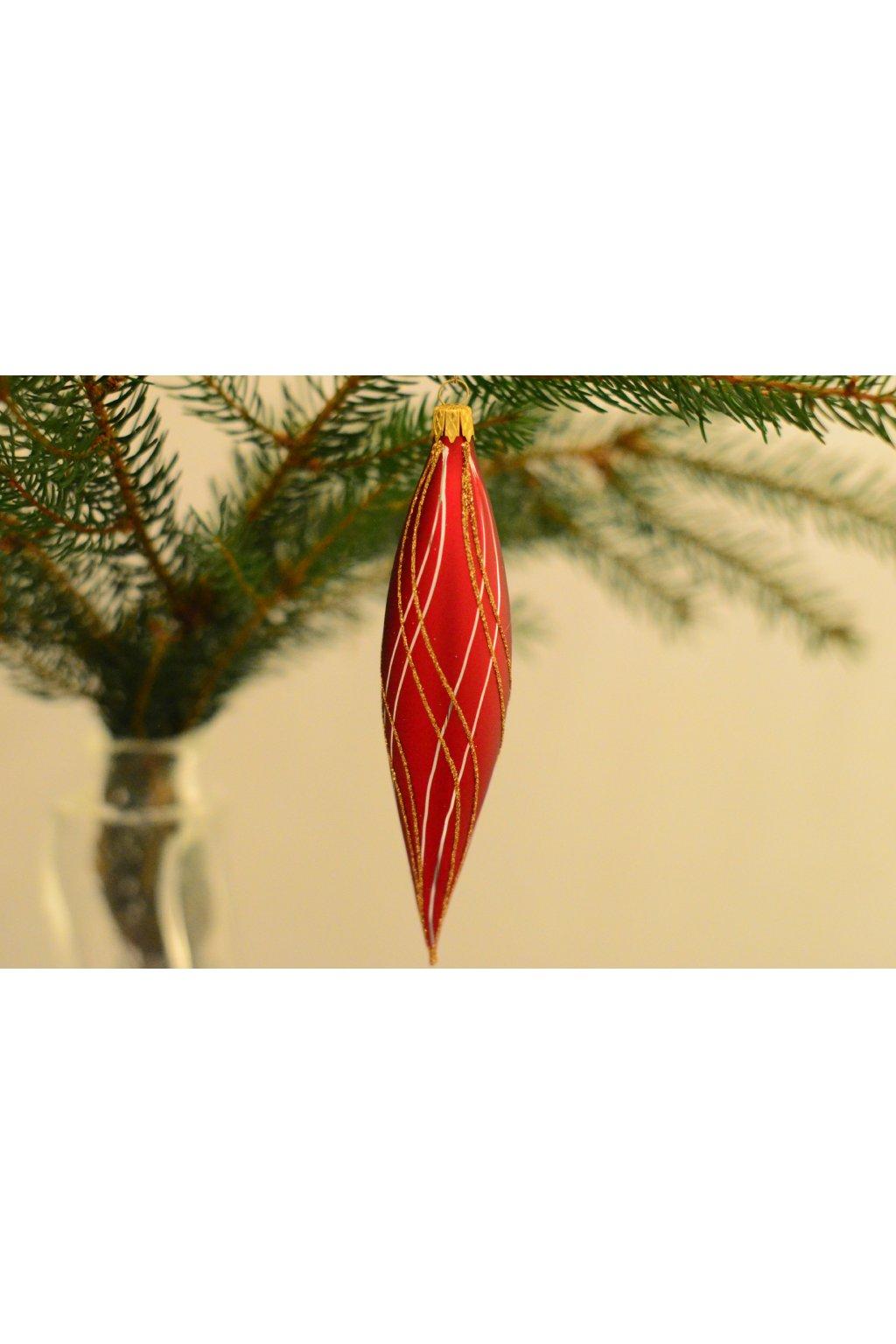 Vánoční ozdoba dekorovaná raketa