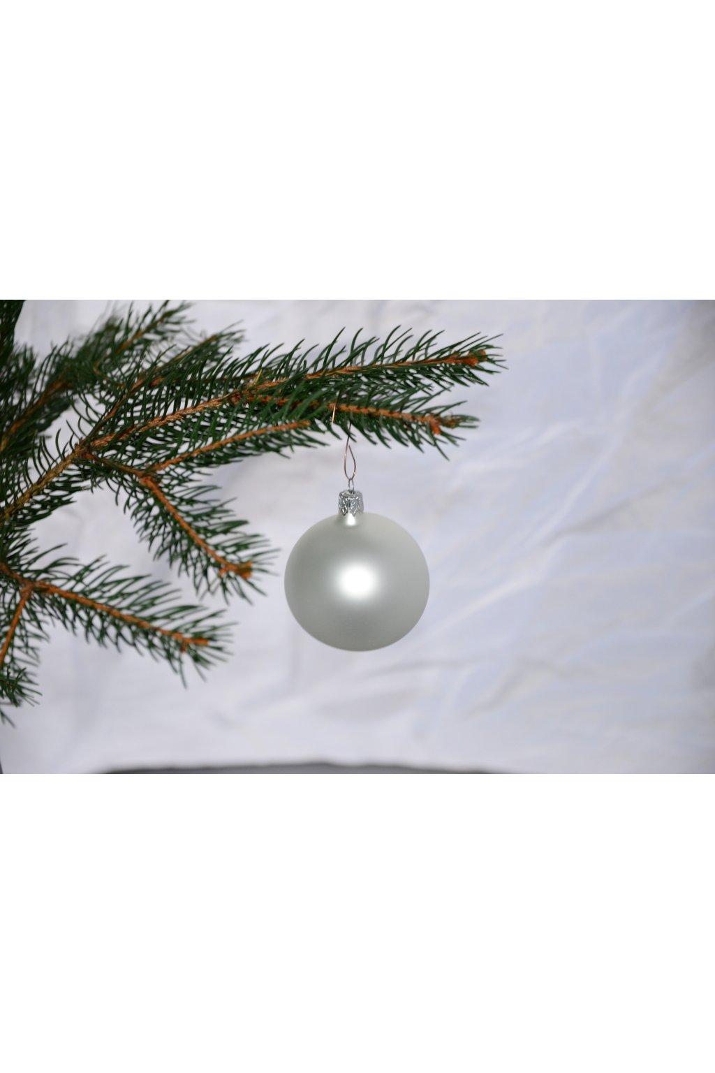 Vánoční koule stříbrný mat