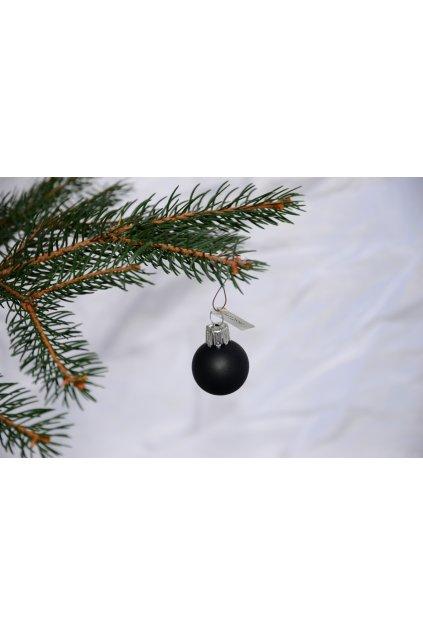Vánoční koule černá mat