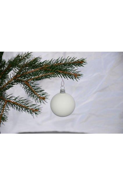 Vánoční koule bílý mat