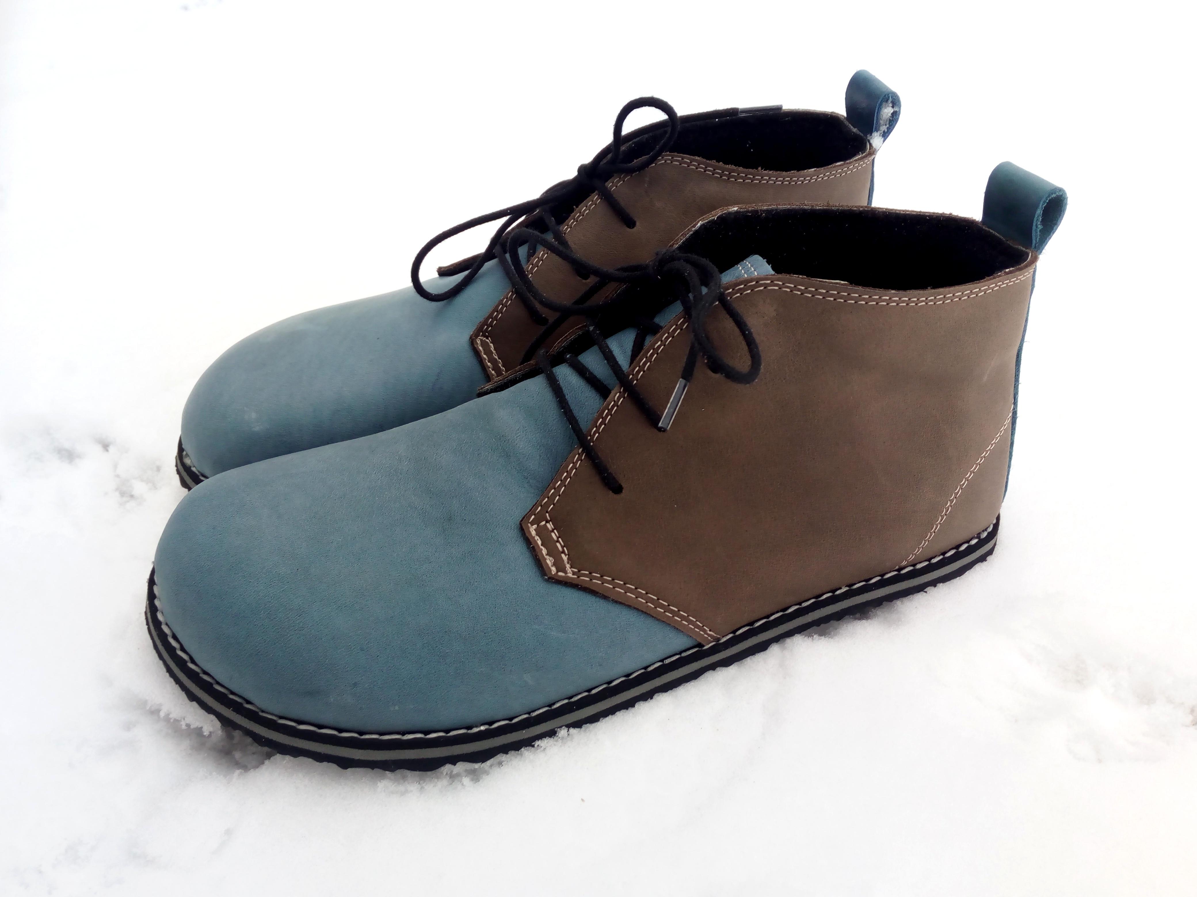 Teploučké a měkké severky, kotníkové barefootové botky zateplené vlněnou podšívkou*