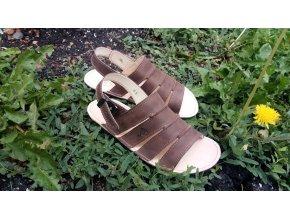 BUMI-Sandálky Čokoláda