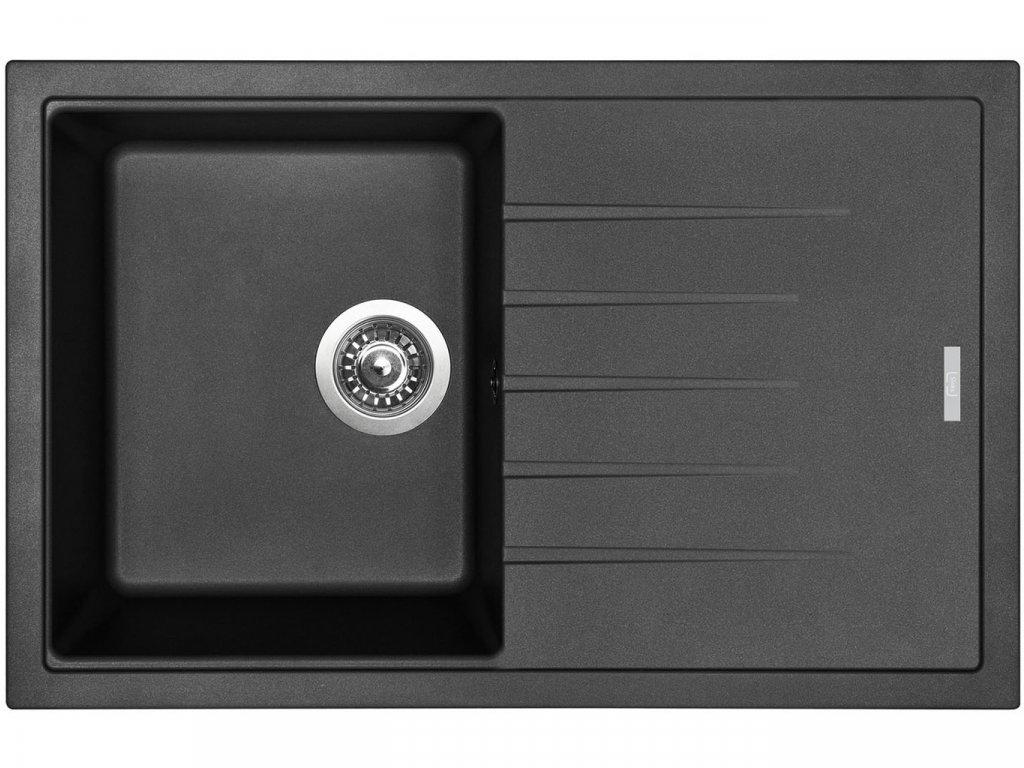 Granitový dřez Sinks BEST 780 Granblack  + Čistící pasta Sinks na dřezy