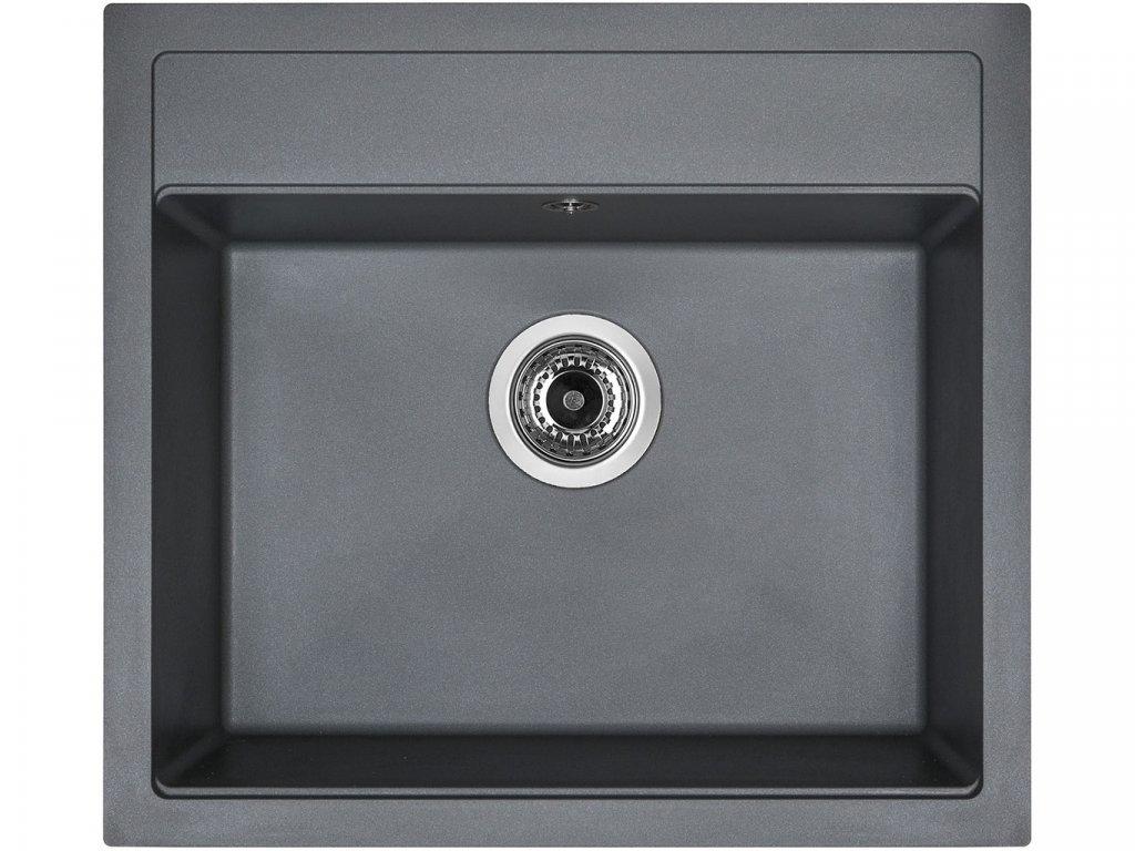 Granitový dřez Sinks SOLO 560 Titanium  + Čistící pasta Sinks na dřezy