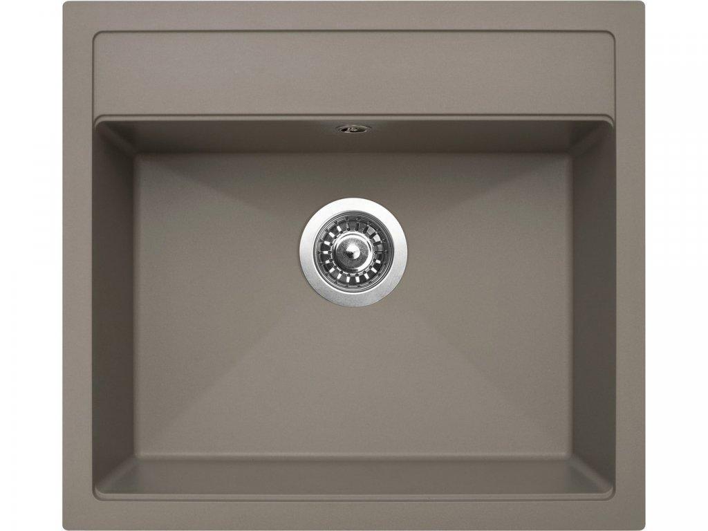 Granitový dřez Sinks SOLO 560 Truffle  + Čistící pasta Sinks na dřezy