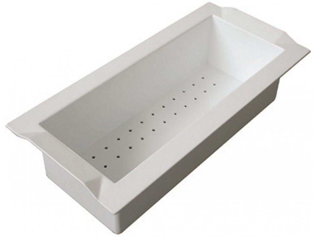 Sinks cedník BOX plast bílá