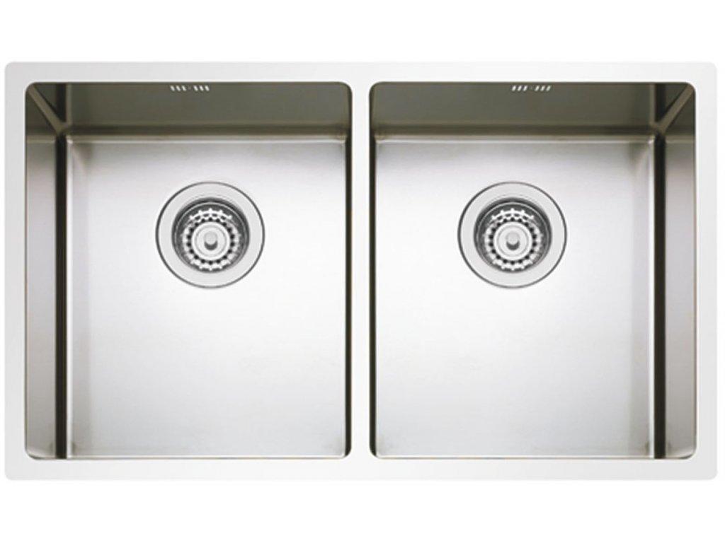 Nerezový dřez Sinks BOX 755 DUO RO  + Čistící pasta Sinks