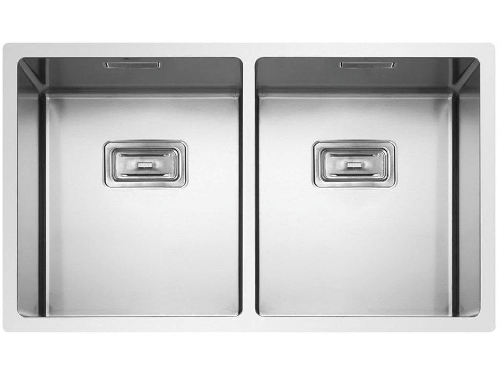 Nerezový dřez Sinks BOX 755 DUO FI 1,0mm  + Čistící pasta Sinks na dřezy