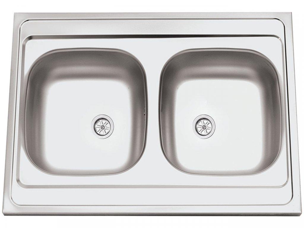 Nerezový dřez Sinks CLP-A 800 DUO M 0,5mm matný