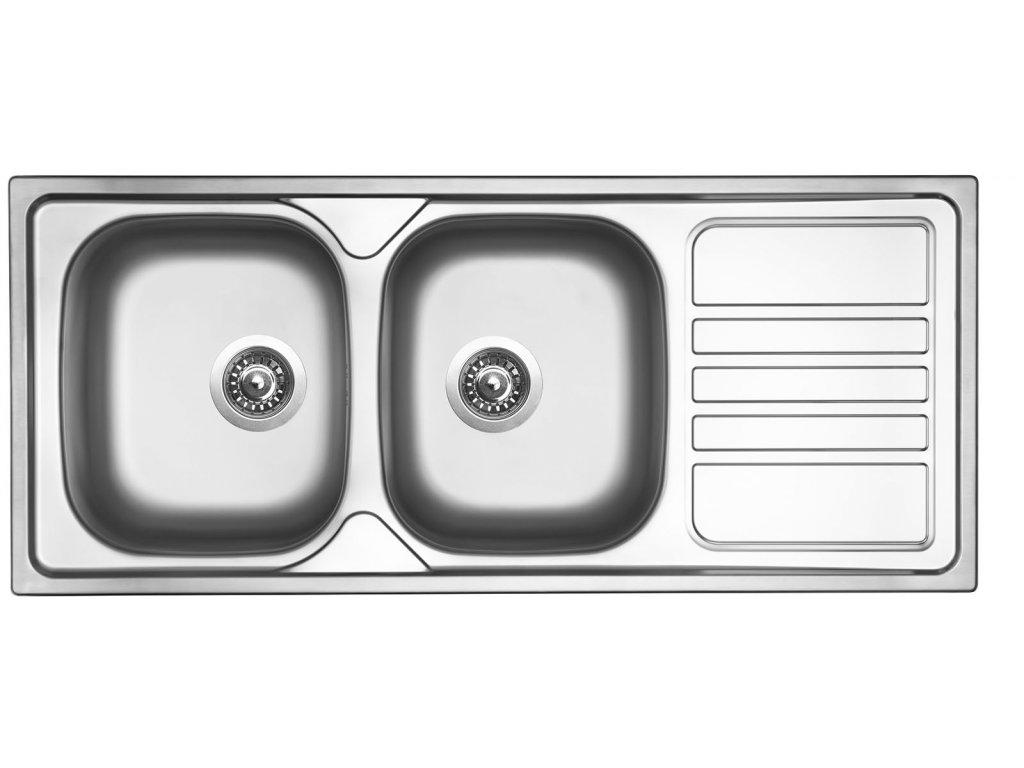 Nerezový dřez Sinks OKIO 1160 DUO V 0,6mm leštěný