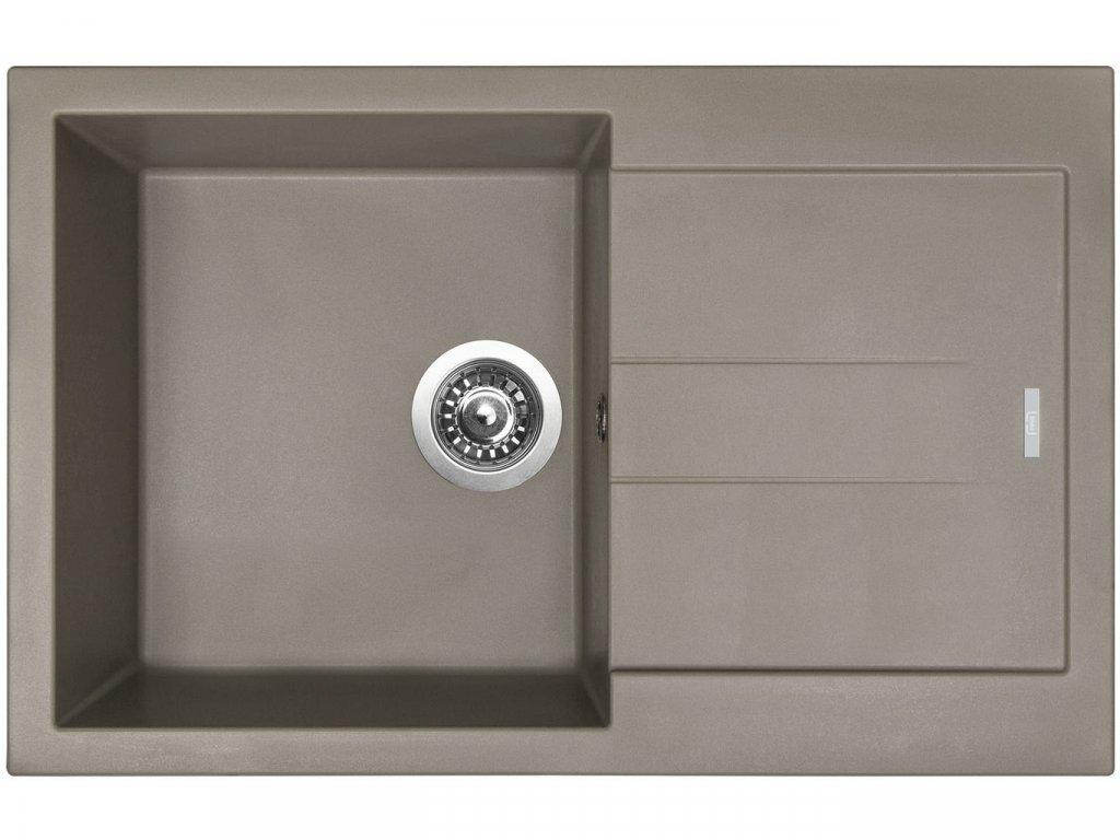 Granitový dřez Sinks AMANDA 780 Truffle  + Čistící pasta Sinks na dřezy