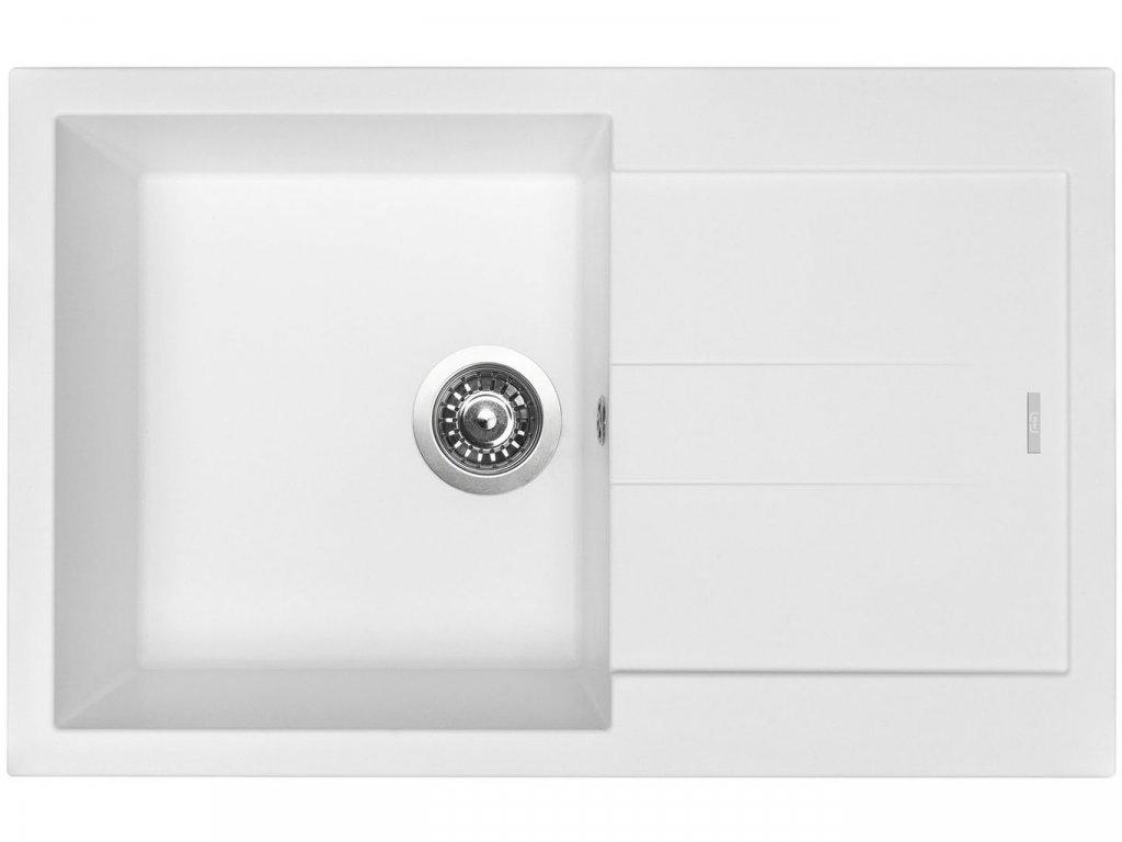 Granitový dřez Sinks AMANDA 780 Milk  + Čistící pasta Sinks na dřezy