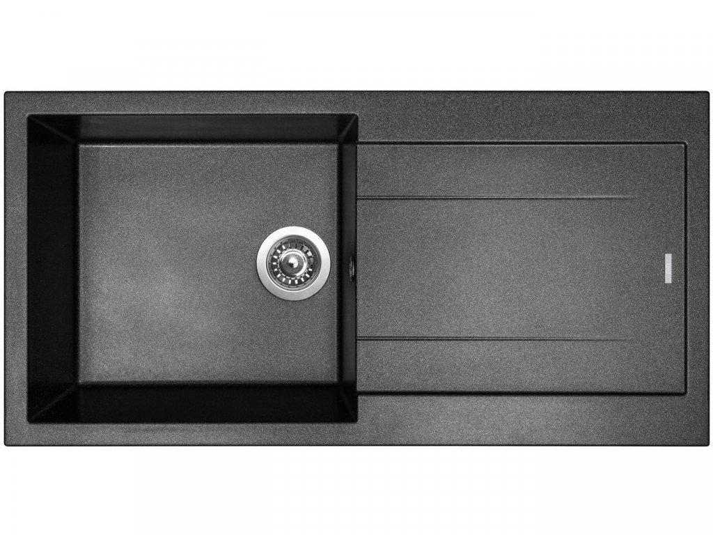 Granitový dřez Sinks AMANDA 990 Metalblack