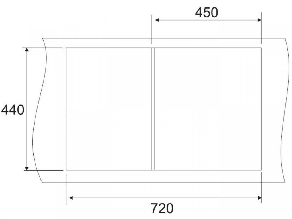 Granitový dřez Sinks CLASSIC 740 Metalblack  + Čistící pasta Sinks na dřezy