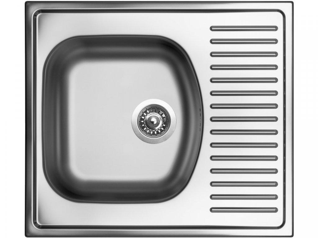 Nerezový dřez Sinks SHORT 580 V 0,5mm matný