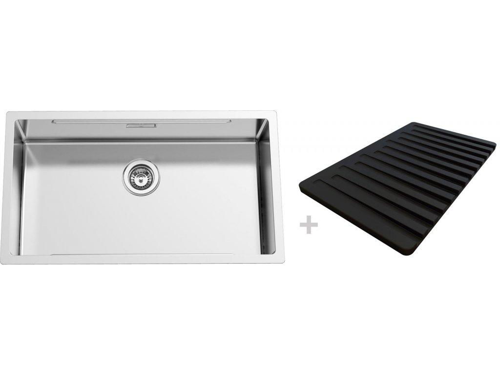 Nerezový dřez Sinks BOXSTEP 790 RO 1,0mm + VERSUS