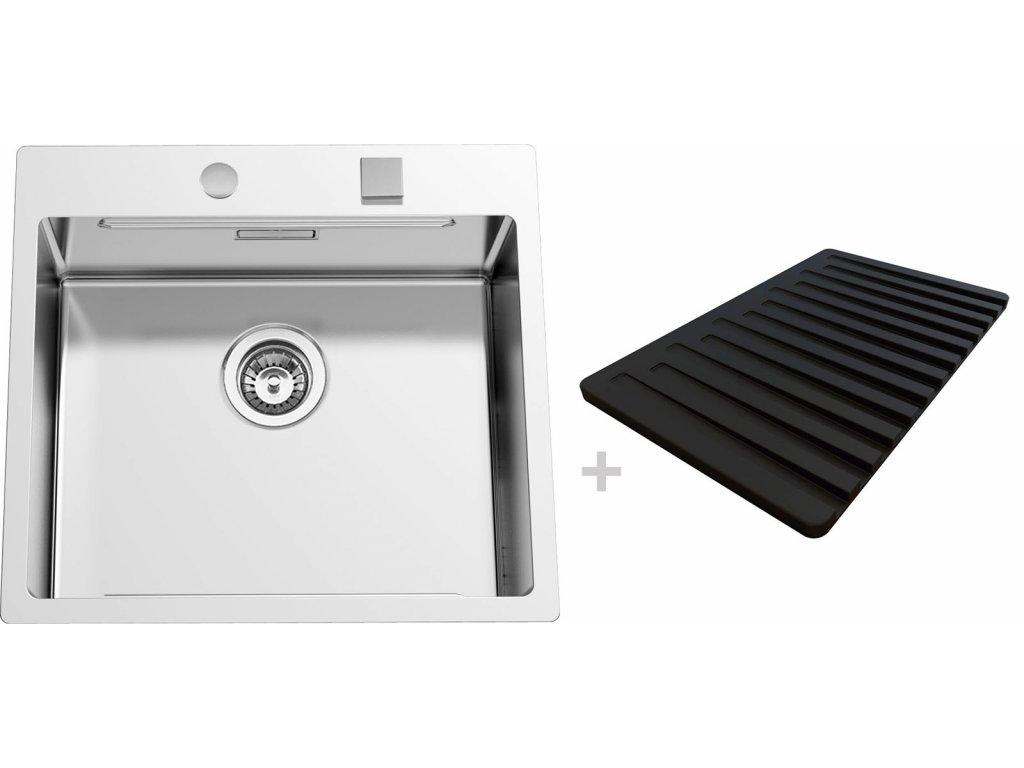 Nerezový dřez Sinks BOXERSTEP 550 RO 1,2mm + VERSUS  + Čistící pasta Sinks