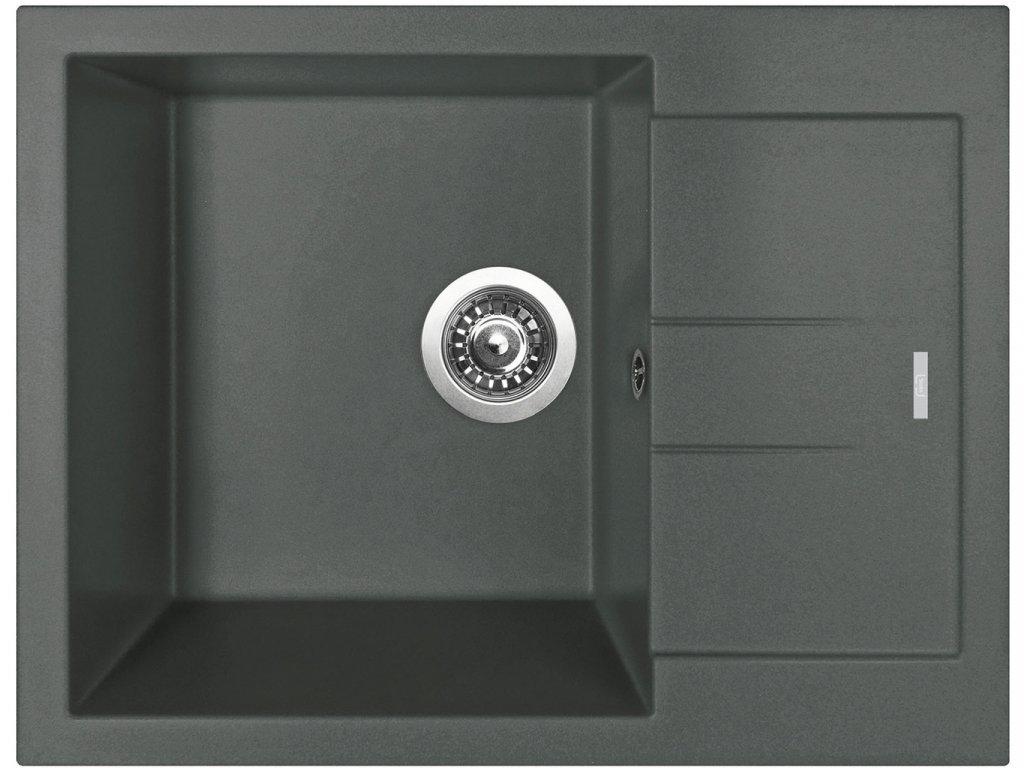 Granitový dřez Sinks AMANDA 650 Titanium  + Čistící pasta Sinks na dřezy