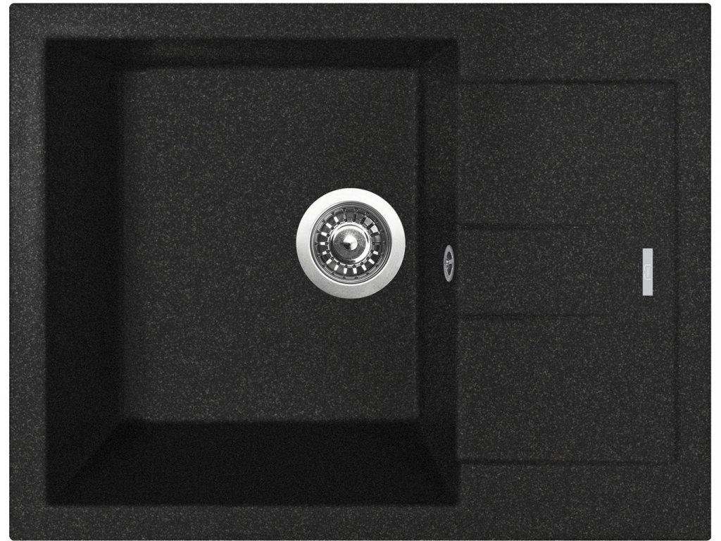 Granitový dřez Sinks AMANDA 650 Granblack  + Čistící pasta Sinks na dřezy