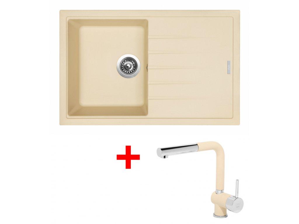 Sinks BEST 780 Sahara+MIX 3P GR  + Čistící pasta Sinks na dřezy