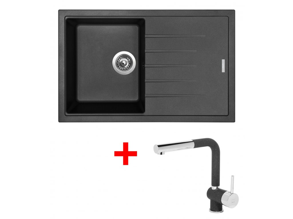 Sinks BEST 780 Granbl.+MIX 3P GR  + Čistící pasta Sinks na dřezy