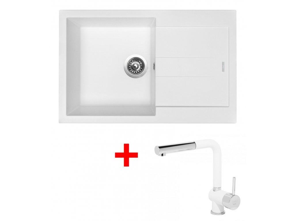 Set Sinks AMANDA 780 Milk+MIX 3P GR  + Čistící pasta Sinks na dřezy