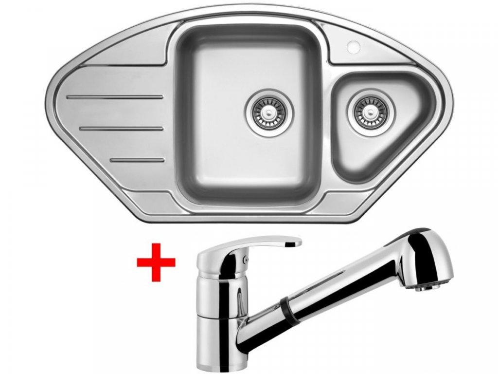 Nerezový dřez Sinks LOTUS 945.1 V+LEGENDA S