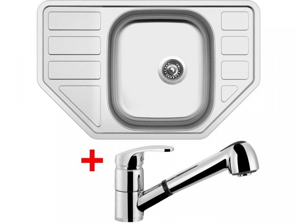 Nerezový dřez Sinks CORNO 770 V+LEGENDA S