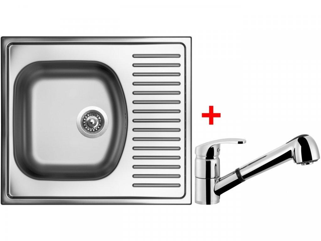 Nerezový dřez Sinks SHORT 580 V+LEGENDA S