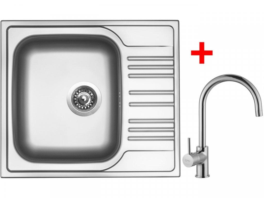 Nerezový dřez Sinks STAR 580 V+VITALIA