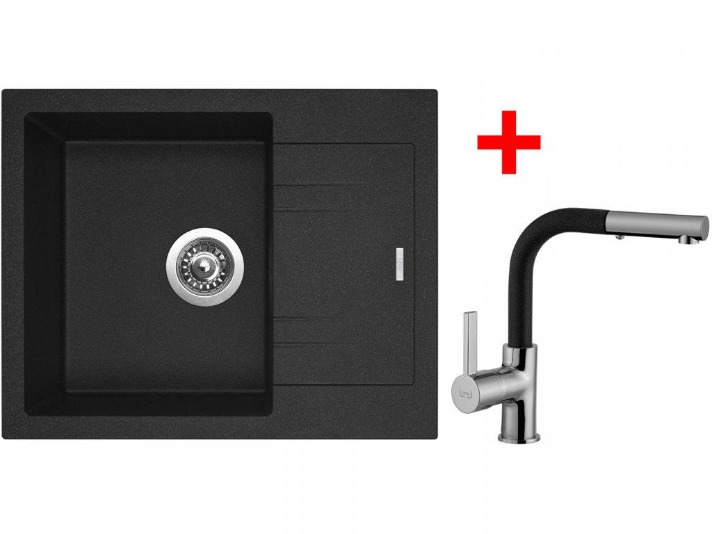 Sinks LINEA 600 N Granblack+ENIGMA S GR  + Čistící pasta Sinks na dřezy