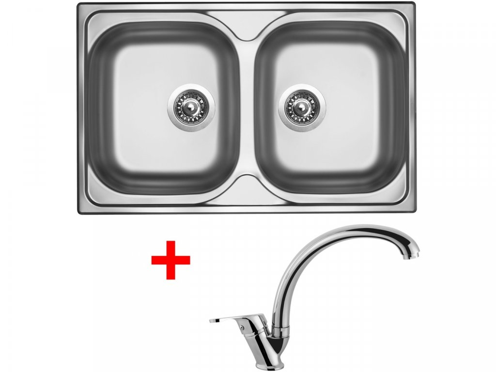 Nerezový dřez Sinks CLASSIC 800 DUO V+EVERA