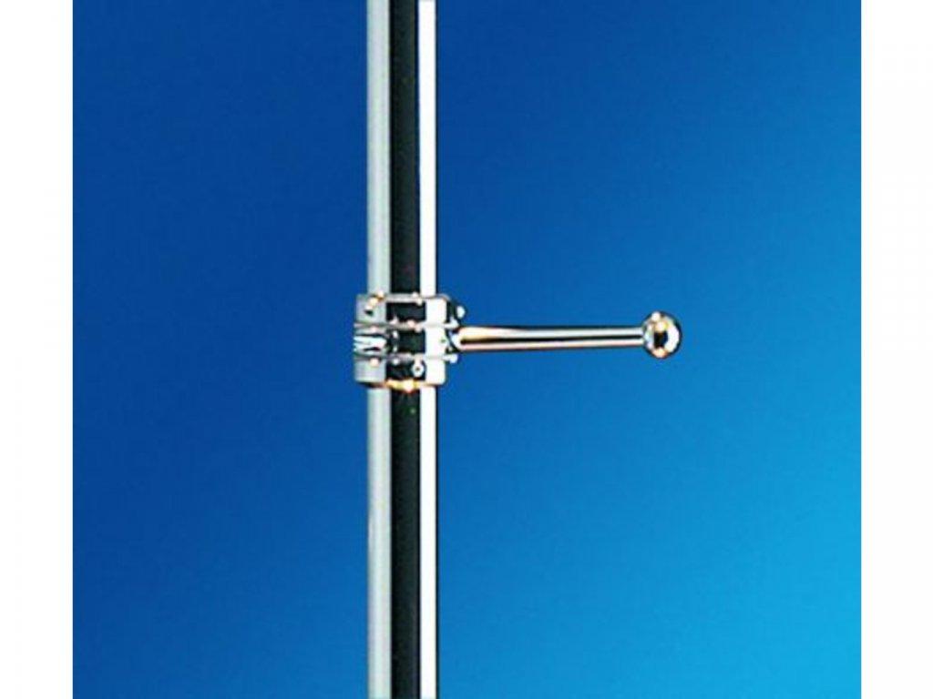 Vešák jednoramenný bez objímek - délka ramena 100 mm - chrom
