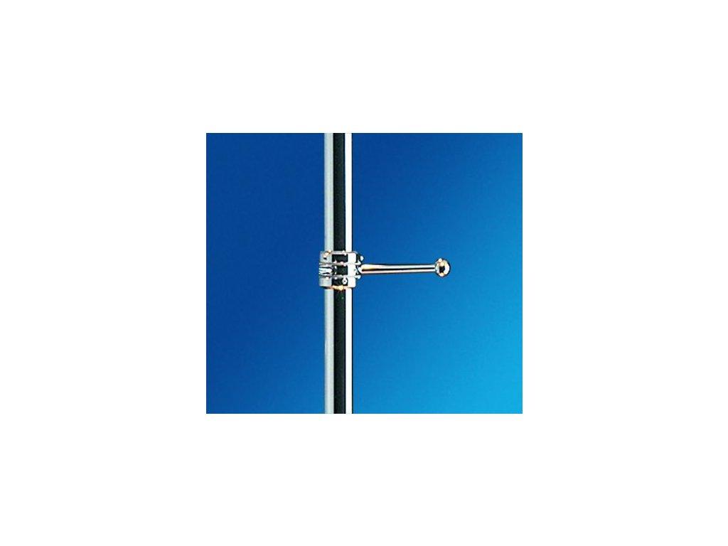 Vešák jednoramenný bez objímek - délka ramena 200 mm - mosaz