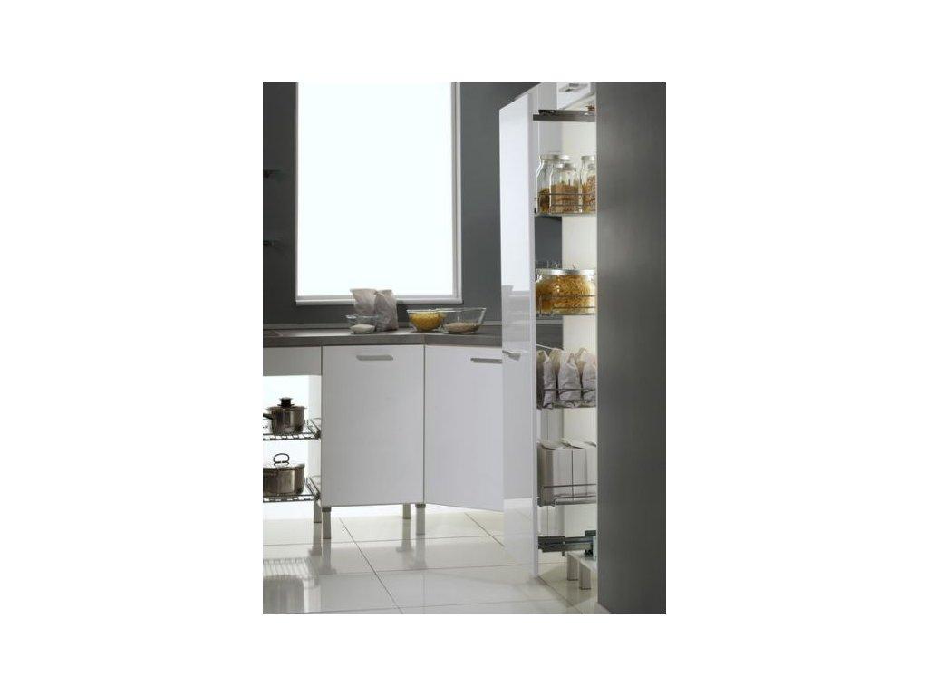 Potravinová skříň střední set se 4 koši šíře 300mm + výsuv Schock Metall s tlumením do 100kg